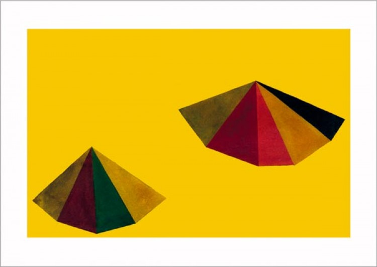 Untitled, 1986 (pyramid yellow)