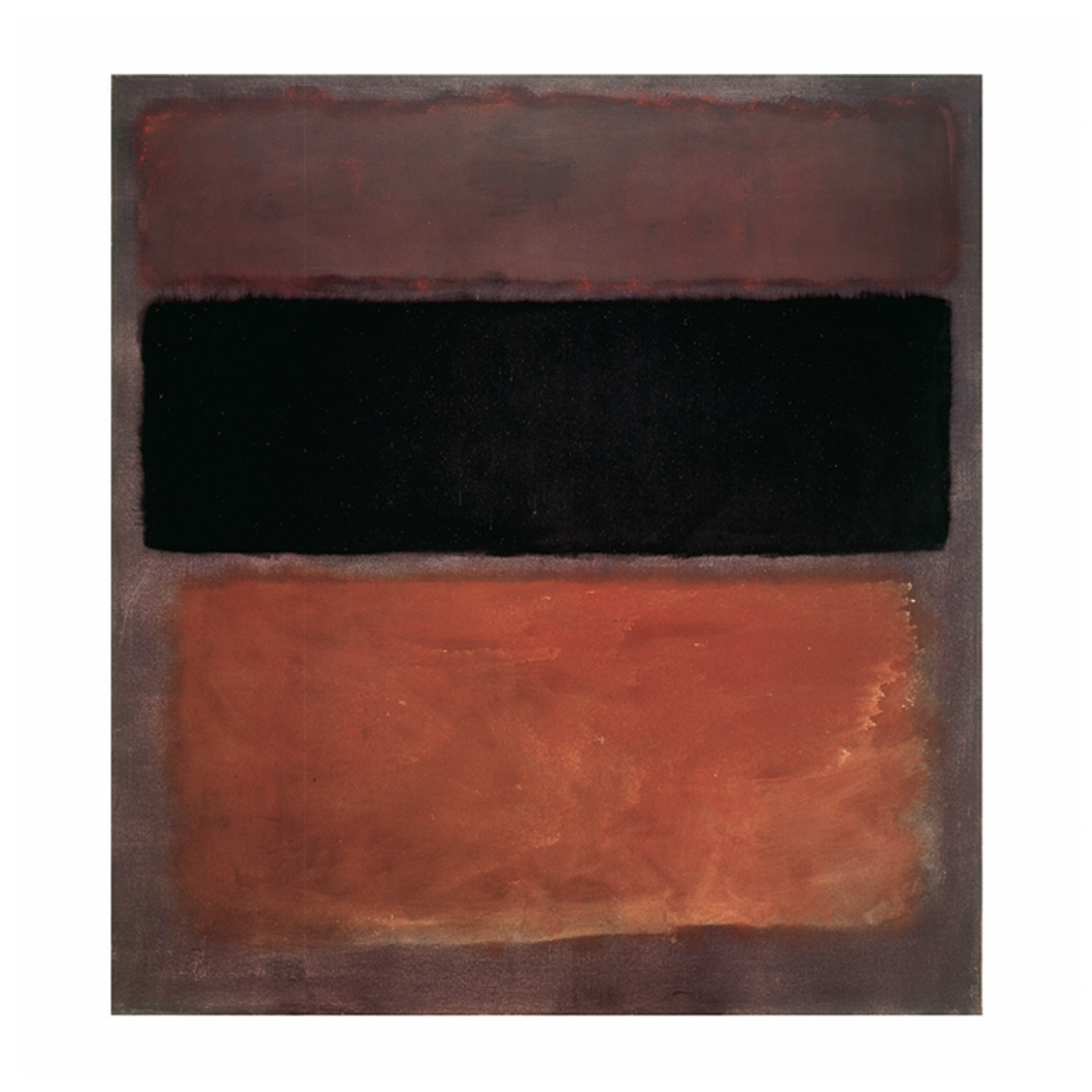 N° 10, brown, black, sienna on dark wine, 1963