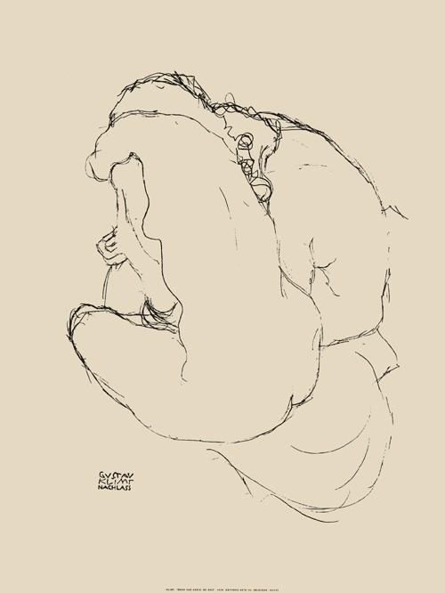 Deux nus assis de dos, 1916