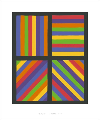 Color Bands in Four Directions, 1999