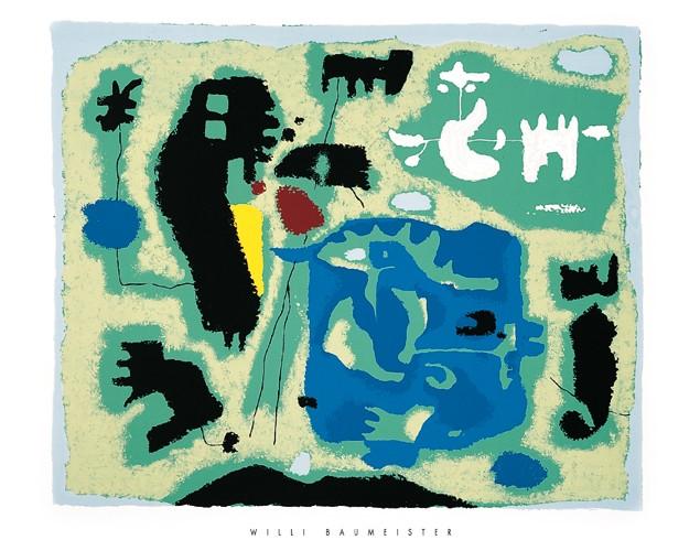 Komposition in Grun, 1954