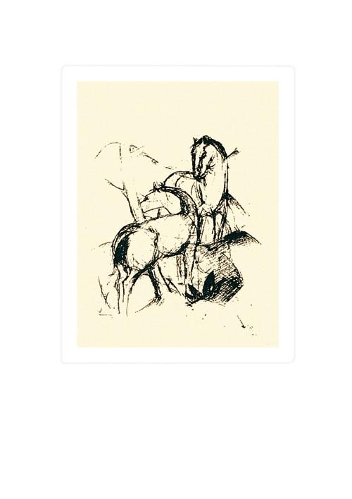 Zwei Pferde, 1910-11