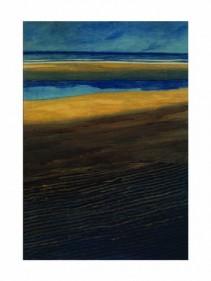 Marine, plage à marée basse, 1909