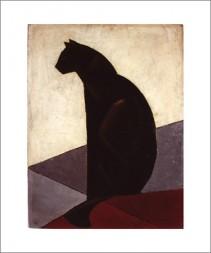 Chat noir de profil, 1924
