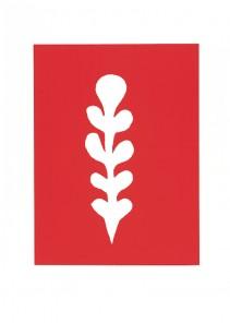Palme blanche sur fond rouge, 1947