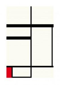 Composition avec rouge , noir et blanc, 1931