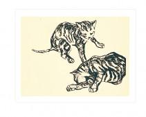 Zwei Katzen (detail), 1908